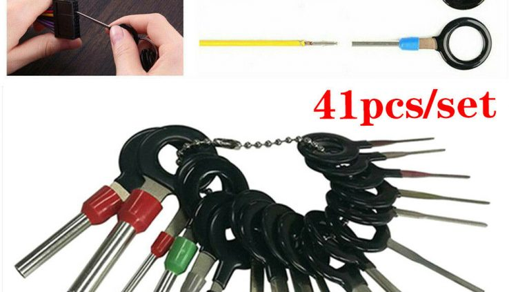 41PCS Wire Terminal Laying aside Tool Equipment Automobile Electrical Wiring Crimp Connector Pin