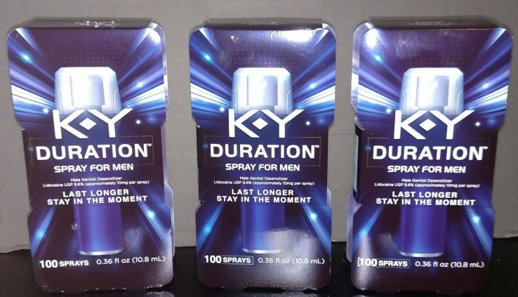 (3 PACK) K-Y KY Length Spray for Men Closing Longer Moment 100 sprays Exp 10/18