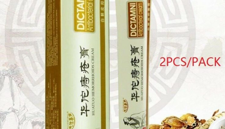 2pcs Chinese language Herbal Medication Hemorrhoid Ointment Cream Remedy Cream Christmas
