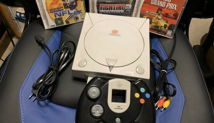 Dreamcast White Console With Controller, Hook UsaAnd 3 Video games, Works Astronomical