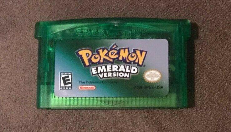 Pokemon Emerald Version Nintendo Game Boy Reach GBA Pleasant! Hasty Delivery!
