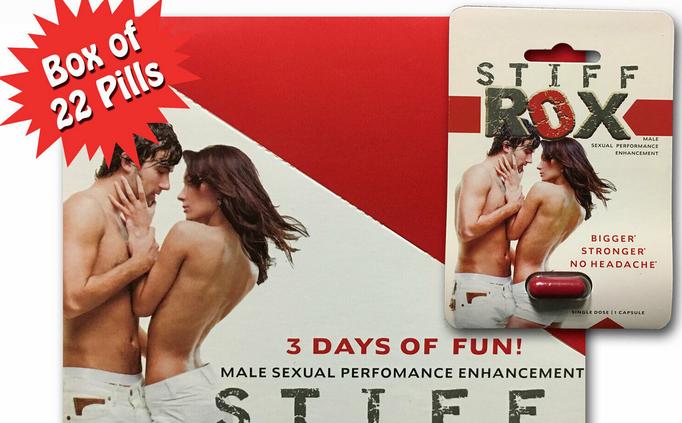 Stiff Rox Male Sexual Efficiency Enhancement- 22 Capsules ONE FULL BOX FAST SHIP