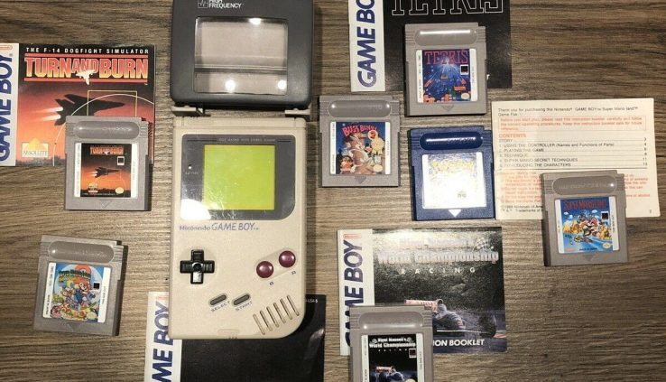 Nintendo Sport Boy Gray Handheld Gadget With Games And Excessive Frequency Mild.