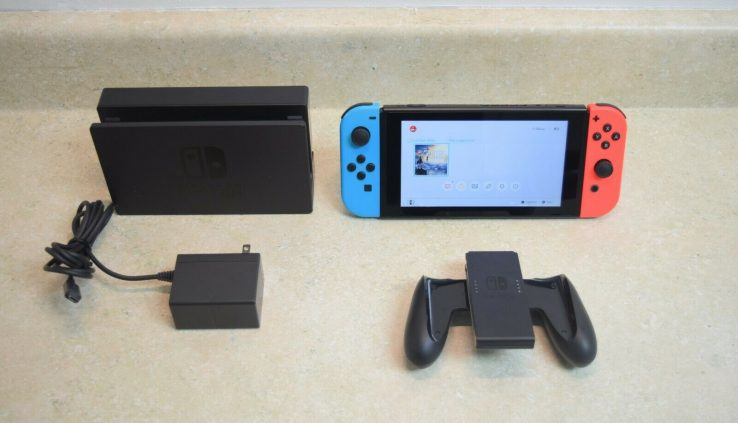Nintendo Switch 32GB Console with Neon Blue and Crimson Pleasure-Cons HAC-001