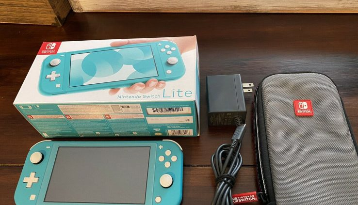 Nintendo Swap Lite Handheld Console – Turquoise – 400GB SD Card