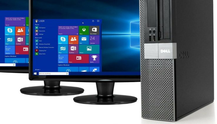 Dell 980 Desktop Computer 16GB RAM 2TB HD 512GB SSD Dwelling windows 10 PC Twin 22″ LCDs