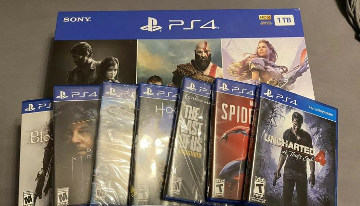 Sony PlayStation 4 1TB The Closing of Us: Remastered, God of Battle & Horizon Zero…