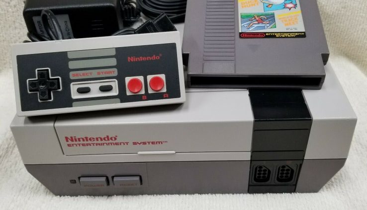 Genuine NES Nintendo Machine Console, One Controller, All Cords, Novel Pins, Game