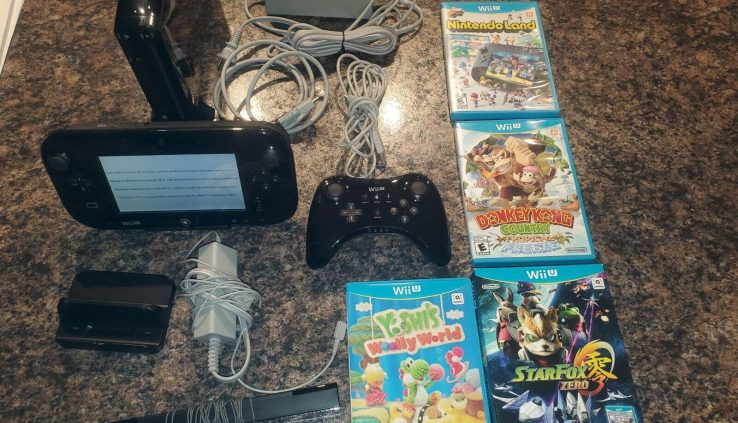 Nintendo Wii U 32GB Shadowy Console 5 Download Bundle – Ready to Play! LEGO Enthusiasts