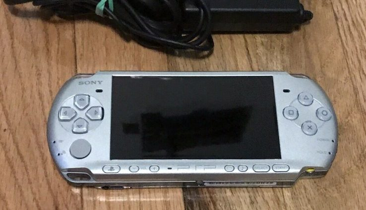 Sony PSP-3001 Silver With Charger TESTED WORKING psp3001 psportable