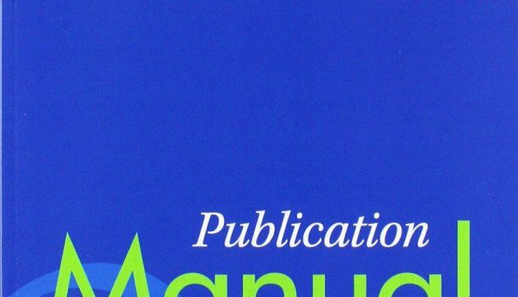 Publication Manual of the American Psychological Association, 6th ED (E-ß00K)