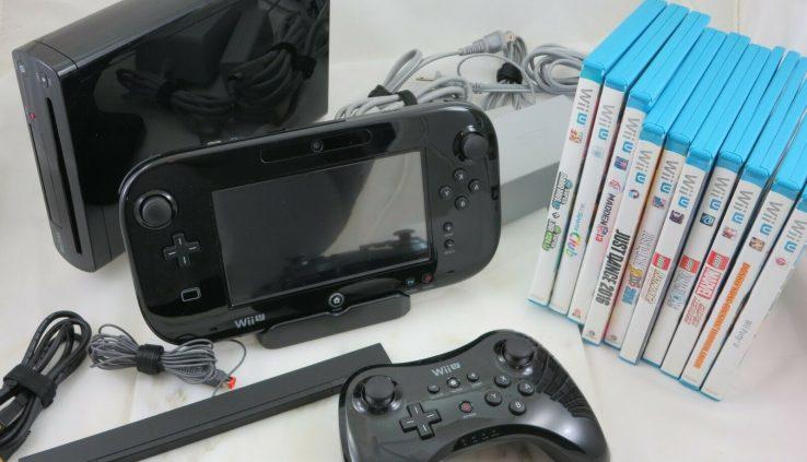 HUGE Nintendo Wii U 32GB Console Bundle LOT + Pro Controller 11 GAMES – GamePad