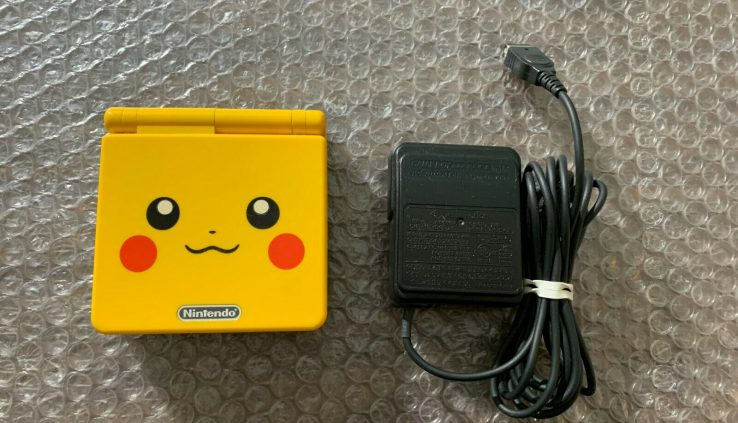 Nintendo Recreation Boy Advance, GBA SP AGS 101 Pikachu Yellow System — with charger