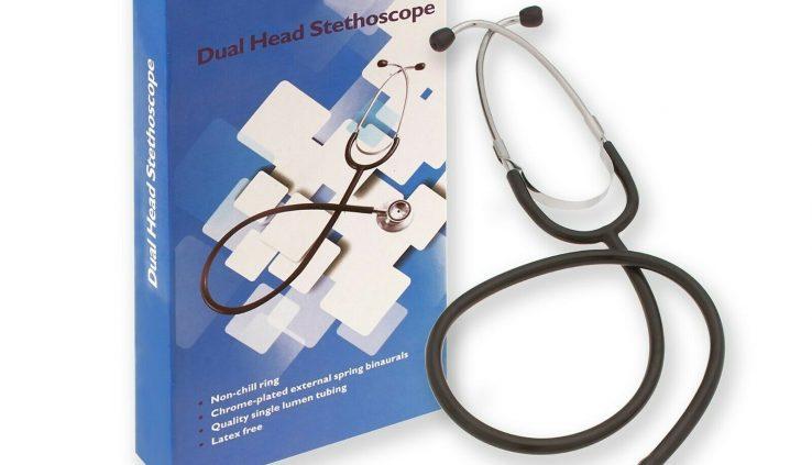 Expert Double Dual Head Stethoscope Physician Nurse Scientific Healthcare