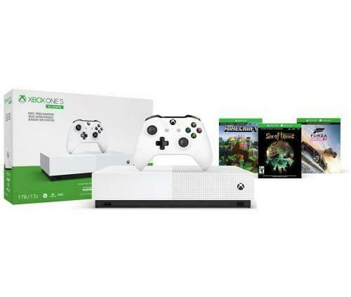 Xbox One S 1TB All-Digital Edition Gaming Console – Xbox One S White Controller