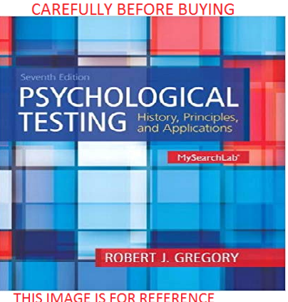 Psychological Making an strive out by Robert J. Gregory Seventh Global Soft Ed Identical E-book