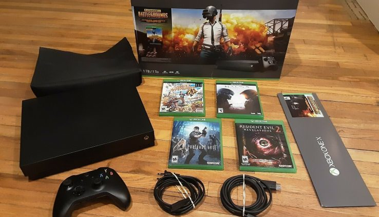 Xbox One X 1TB 4K PlayerUnknown's Battlegrounds PUBG Bundle – Shaded Machine