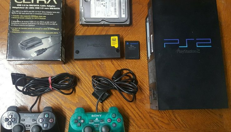 Sony PlayStation 2 PS2 long-established modded fmcb 320gb usaa. model (made in japan) ntsc