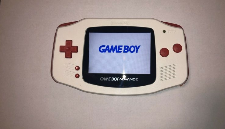 GameBoy Come IPS Display cowl Mod – Backlit IPS Display cowl! Arctic White w/ Red Accents