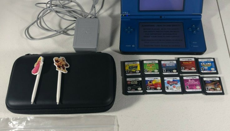 Nintendo DSi XL Heart of the evening Blue Very honest appropriate Situation 10 Sport Stylus Charger Games