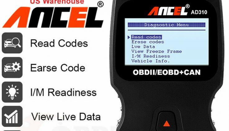 Ancel AD310 Car OBD OBD2 Code Reader Engine Compare Fault Scanner Utility US