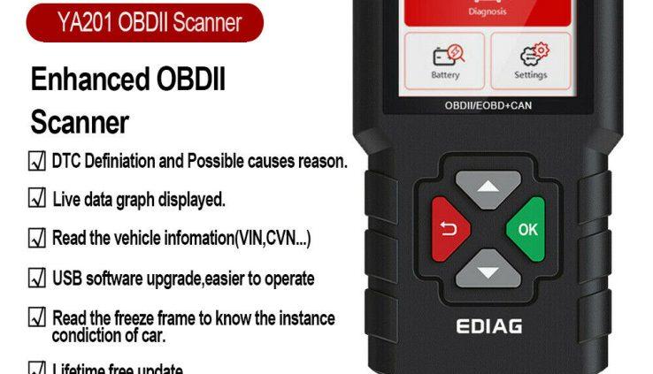 EDIAG YA201 OBD2 Scanner Mode 6 Mode 8 Are residing Data Automobile Engine Fault Creader