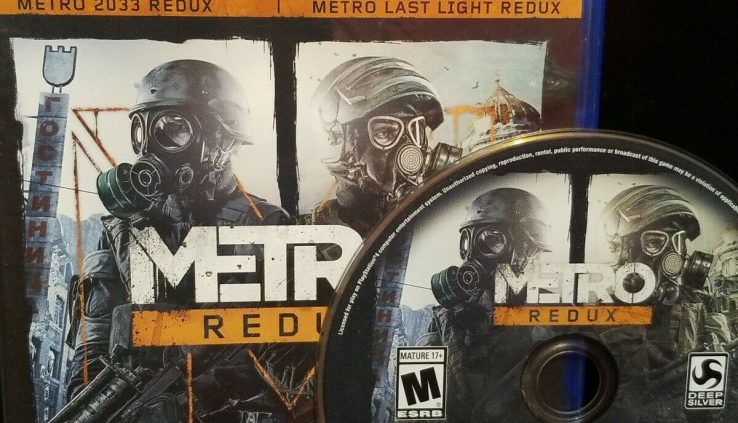 Metro Redux PS4 Video Sport Faded Contains 2 Full Games Ps4