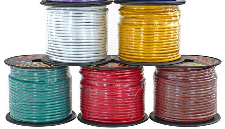 14 Gauge 7 Coloration Copper Clad 12V Car RV Trailer Hook Up Auto Predominant Wire