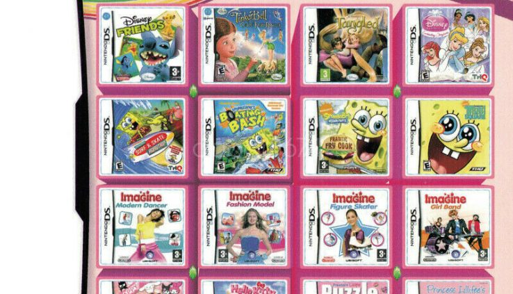 520 in 1 Video NDS Multi Games Cartridge Card for NDS NDSL NDSi 3DS 2DS Hot