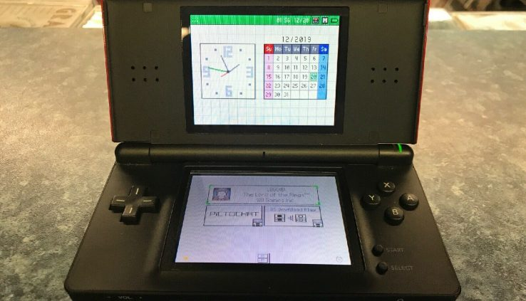 Nintendo DS Lite Crimson Red/Sad Handheld Scheme