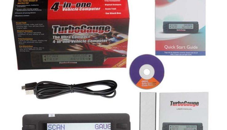 From USA TurboGauge IV Auto Computer Scan Instrument Digital Gauge 4 in 1 Code Reader