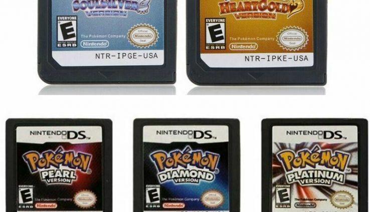 Pokemon Video games Cards Platinum Diamond SoulSilver HeartGold For Nintendo 3DS NDSI