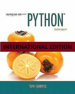 3-4DAYS DELIVERY – Beginning Out with Python by Tony Gaddis, 4th International Ed