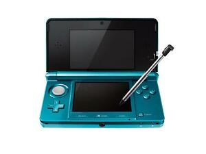 Nintendo 3DS Handheld Machine – Aqua Blue w/2 GB Memory Card and Charger