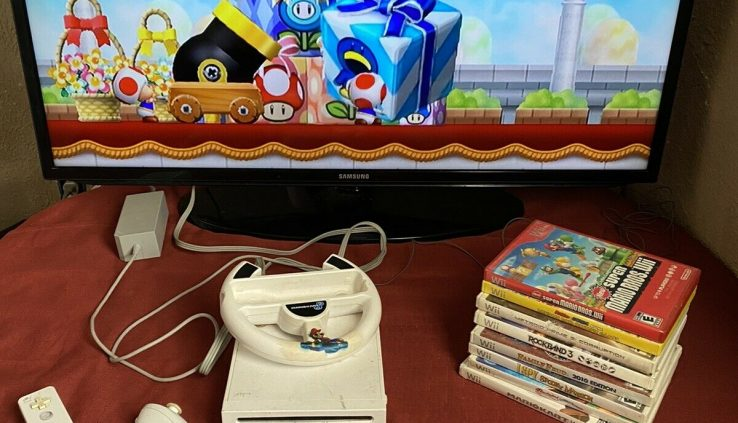 Nintendo Wii Console Lot +games Bundle Glimpse photos