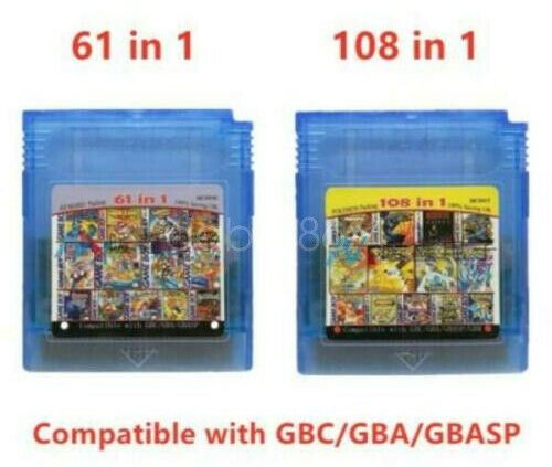 Sport Boy Color cartridge 61 in 1 (multi cart for GameBoy, GBC) or 108 video games in 1