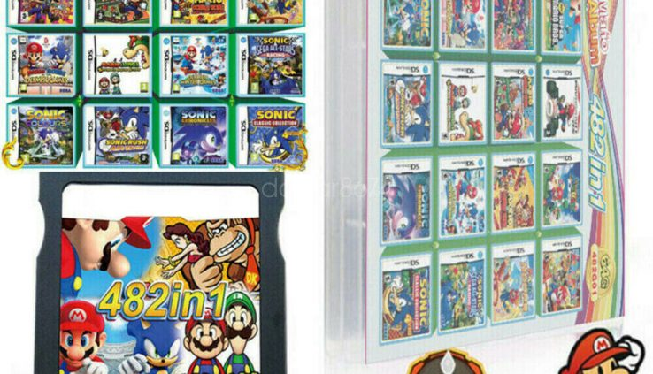 208/482/520 In 1 DS Game Cartridge Fit For NDS NDSL NDSI 3DS 3DSLL/XL