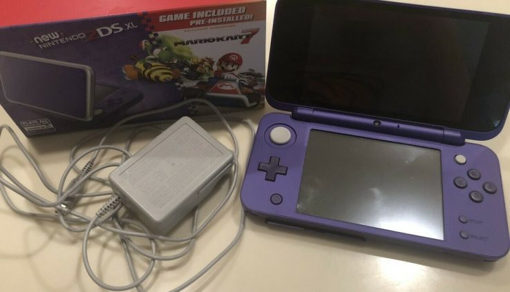 New Nintendo 2DS XL – Purple With Mario Kart 7 Pre-installed