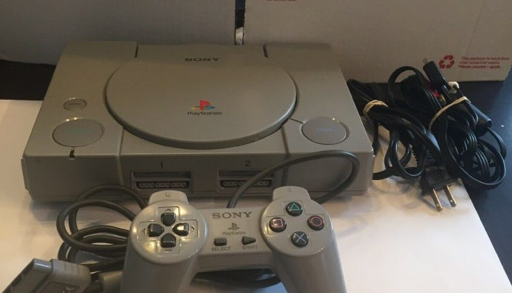 Whole Sony PlayStation 1 PS1 PSX Bundle Controller Cords SCPH-1001
