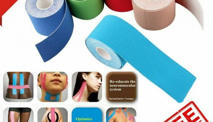 5M Elastic Adhesive Kinesio Tape Physio Stress Sports actions Fortify Muscle Bandage+++