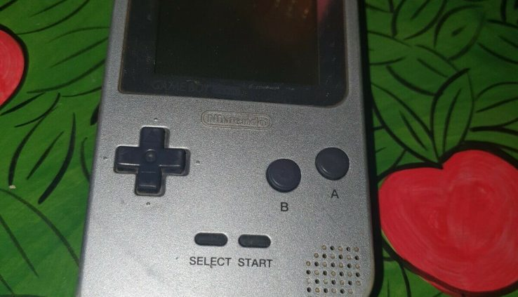 Nintendo Recreation Boy Pocket Silver Handheld System Tested & Working GameBoy