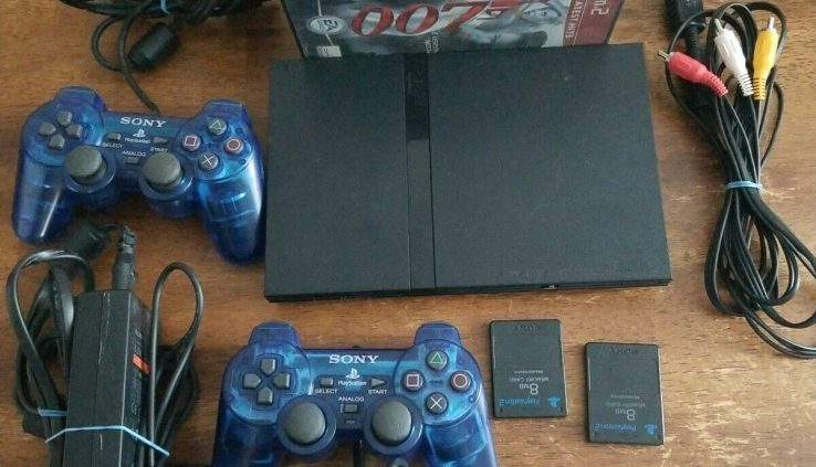 Sony Playstation2 Slim (Bundle) Console w/ 7 Games,2 Controller,2 memory cards
