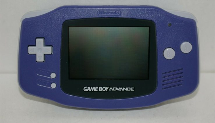 Nintendo Sport Boy Come Purple Handheld Console Machine GBA TESTED!