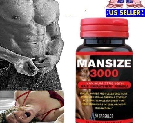 MANSIZE 3000 Male Expansion Penis Dimension Enhancer pill develop bigger longer thick