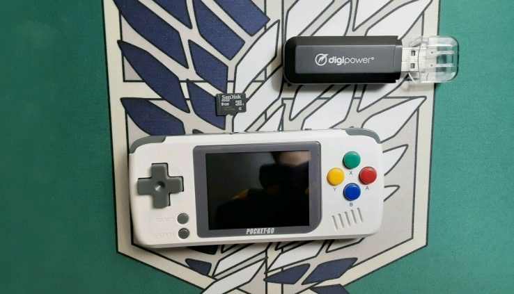 Bittboy PocketGo Video Game Handheld Console + Firmware SD Card + USB Adapter