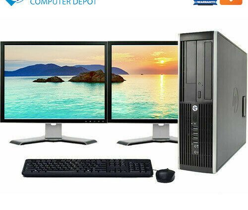 HP Desktop Computer🚩Core i5 16GB 2TB 256GB SSD WiFi 22″ LCD🚩Home windows 10 Knowledgeable PC
