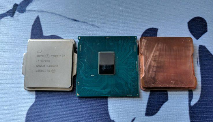 Delidded Intel Core i7-6700K Processor (Runs nicely at 3.6 GHz, 1.00V)