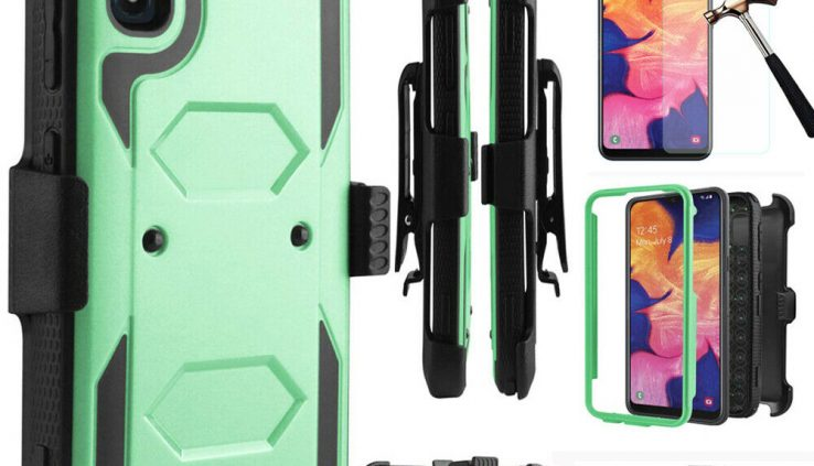 For Samsung Galaxy A10e A20 A50 Shockproof Rugged Case Armor Clip Holster Veil