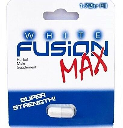 Whitefusion Max / 4 Capsules / Male Enhancement Formulation / Free Shipping US