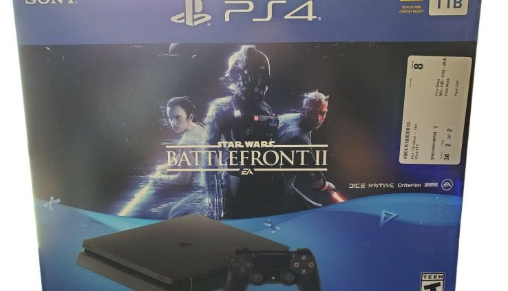 Sony PlayStation 4 Slim STAR WARS: Battlefront II Bundle, 1TB, Gloomy Console